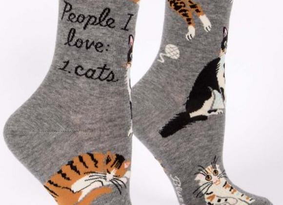 People I Love:  Cats Crew Socks
