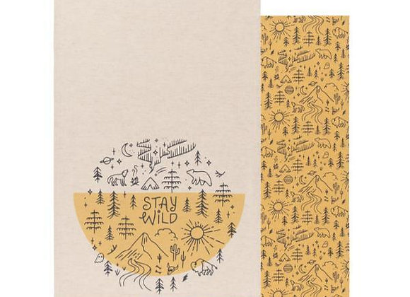 Stay Wild Dishtowels Set of 2