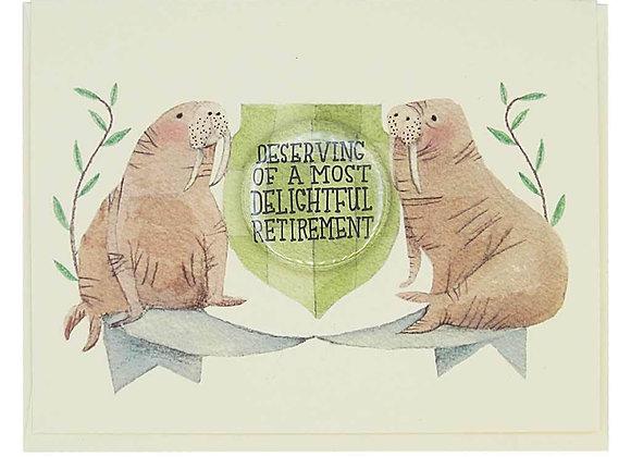 Walrus Retirement Card