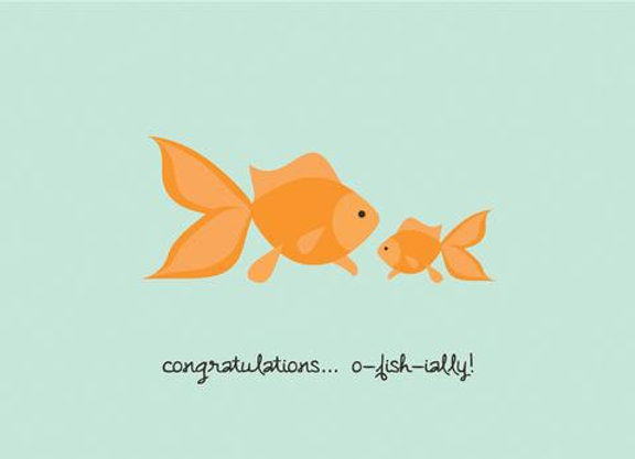 Goldfish Congratulations Card by Halifax Paper Hearts