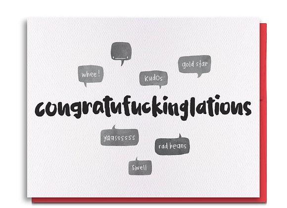 Congratufuckinglations Card