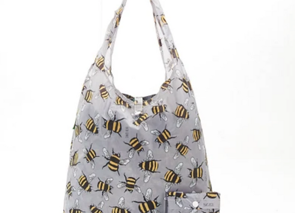 Shopping Tote - Grey Bee