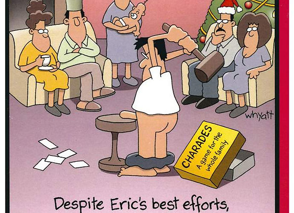 Eric's Best Efforts Christmas Card
