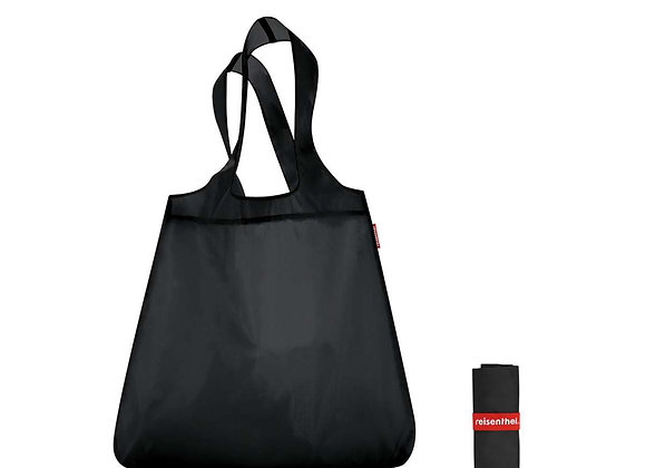 mini maxi shopper - solid black
