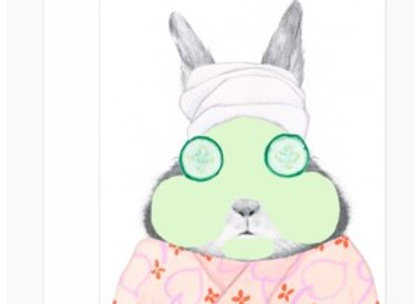 Spa Bunny Mother's Day Card