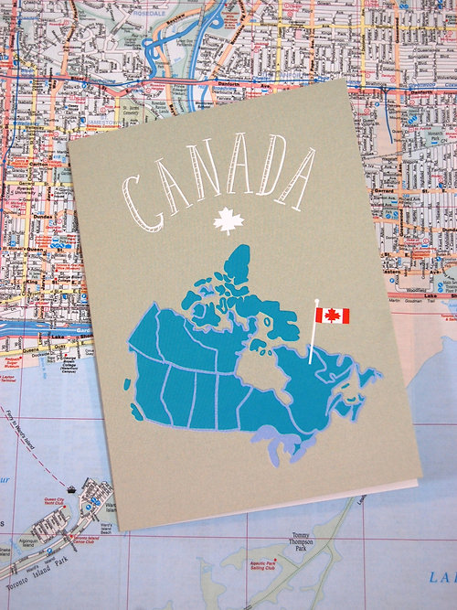 Unique Gift Store Toronto Juxtapose Cards Gifts Canada Map
