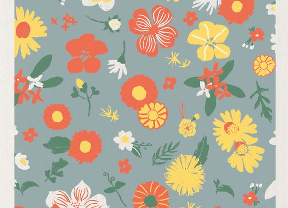 Flowers of Month Ecologie Swedish Sponge Cloth