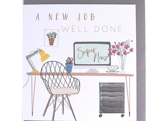 New Job Well Done Card