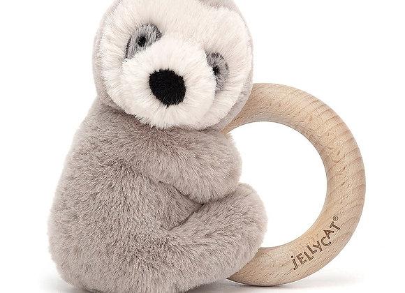 Shooshu Wooden Ring Toy Sloth