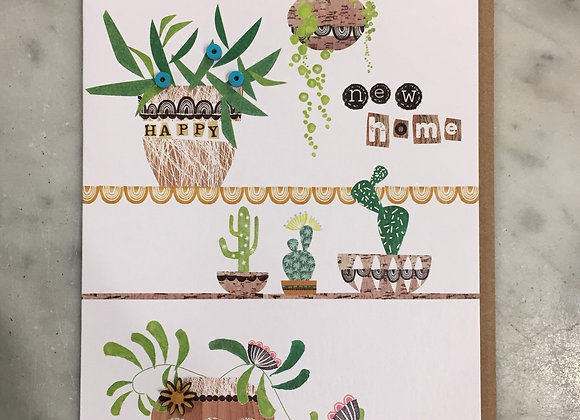 Succulents New Home Card