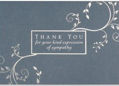 Condolence Thank You Notecards