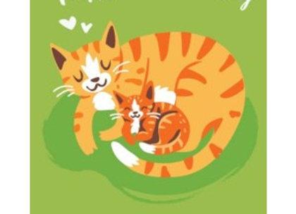Cat & Kitten Mother's Day Card