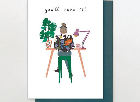 Girl Rock It Desk Card