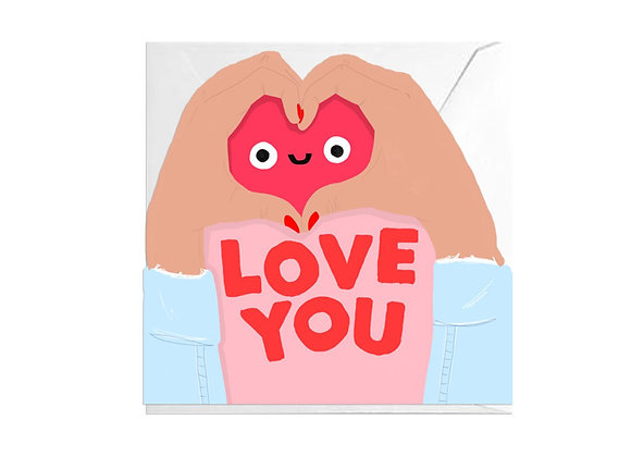 Love You Cutout Card