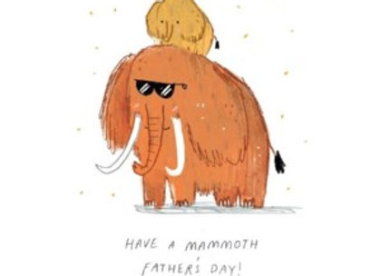 Mammoth Fathers Day Card