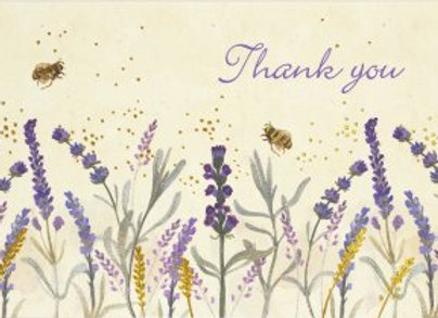 Lavender and Honey Thank You Notecards