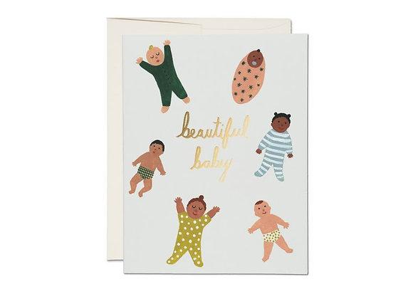 Beautiful Baby Foil Card