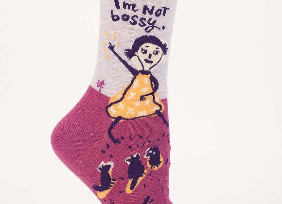 Women's Crew Socks I'm Not Bossy