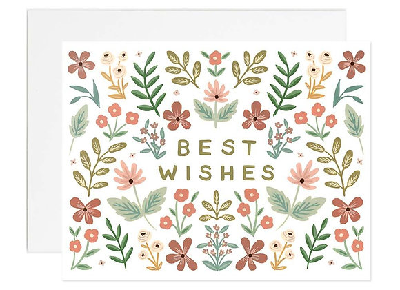 Floral Best Wishes Card