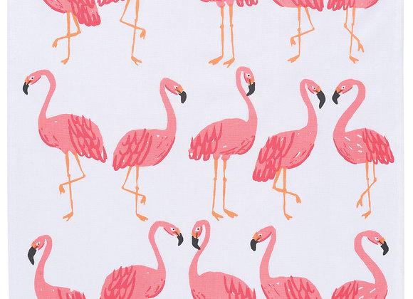 Flamingos Dishtowel