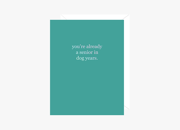 You're Already A Senior In Dog Years Card
