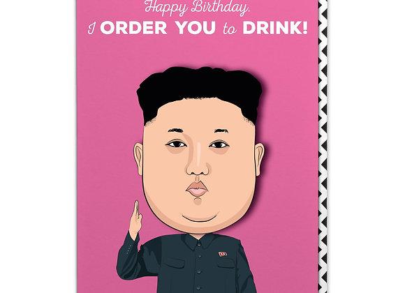Kim Jong Birthday Card