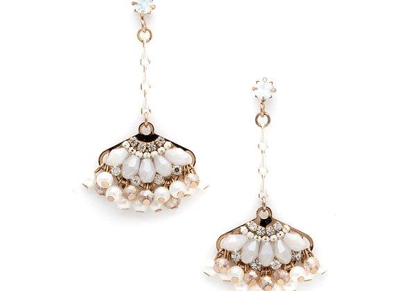 Magnolia Fan Drop Earrings