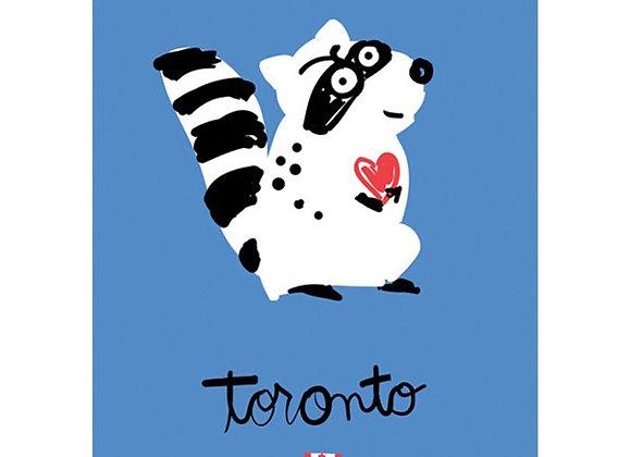 Raccoon Toronto Card