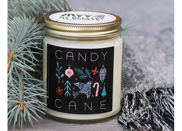 Candy Cane 8oz Candle - My Weekend is Booked
