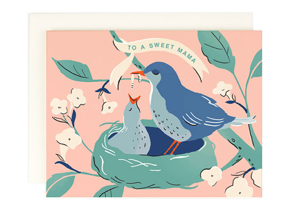 Sweet Mama Baby Bird Card