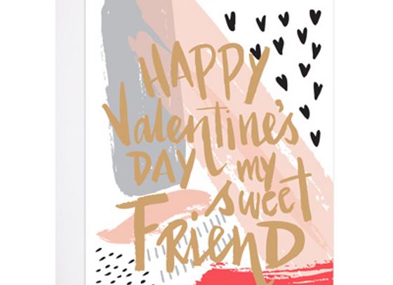 Painted Valentine Card