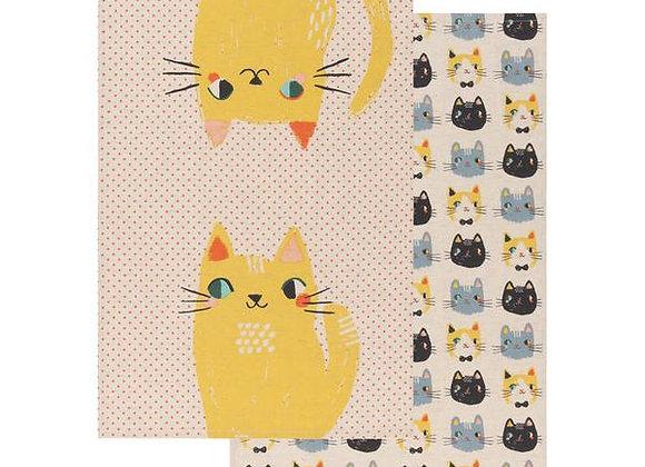 Meow Meow Dishtowels Set of 2