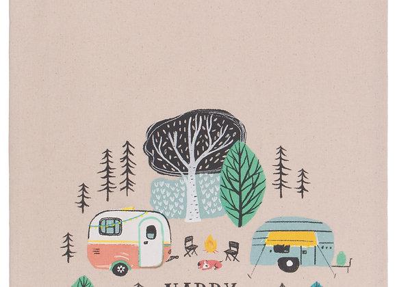 Tea Towel Happy Camper Print