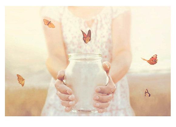 Women Butterflies Released Birthday Card