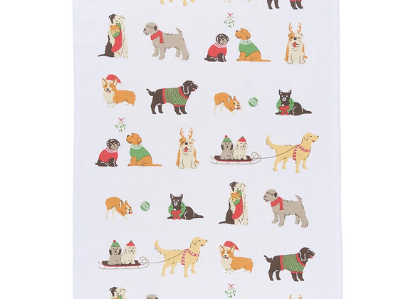 Dishtowel - Holiday Pups