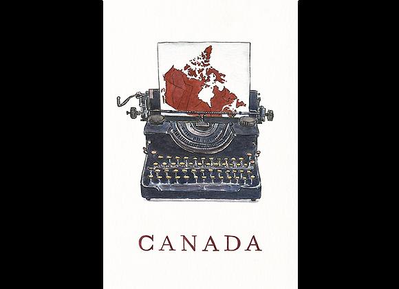 Canadian Typewriter Postcard