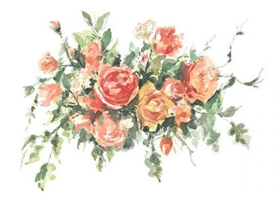 Elizabeth Florals Blank Card