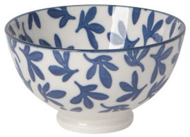 """Blue Floral Bowl 4"""""""