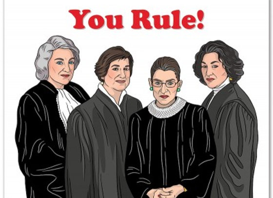 Supreme Judges, You Rule Card by The Found