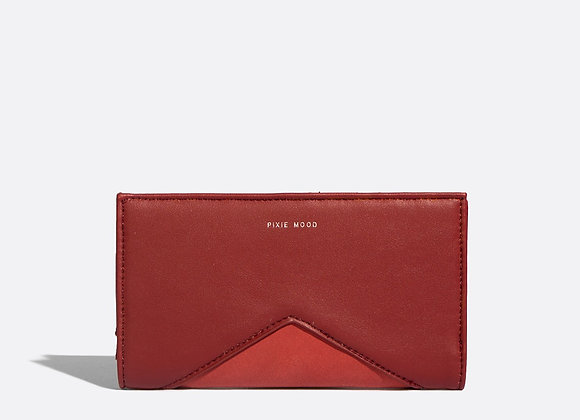 Sophie wallet - red nubuck