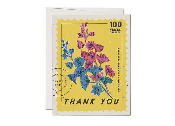 100 Percent Thank You Card