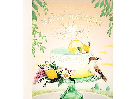 Lemon Cake Birthday Card