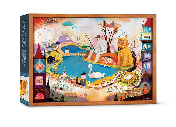 The Lion is Awake 1000pc Puzzle Set