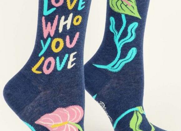 Women's Crew Socks Love Who You Love