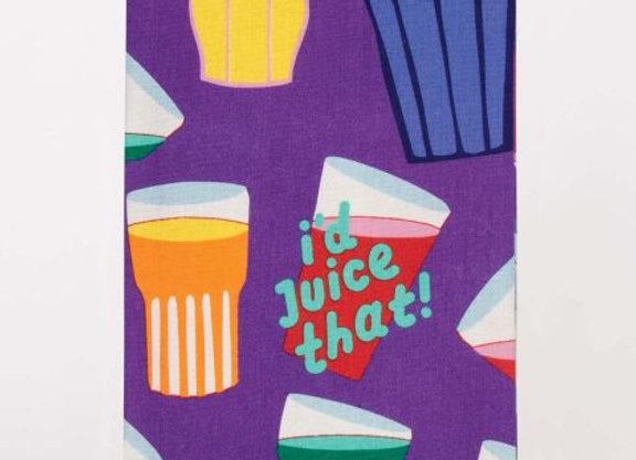Cotton Dishtowel - I'd Juice That