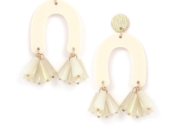 Fette Statement Ivory Stud Earrings