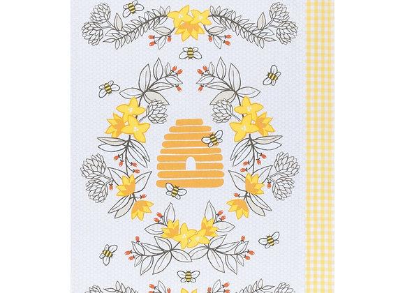 Bees Tea Towel Set of 2