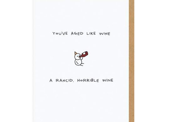 You've Aged Like Wine Birthday Card by Ohh Deer