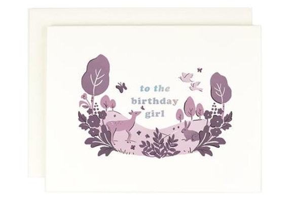 Birthday Girl Holographic Foil Card by Amy Heitman