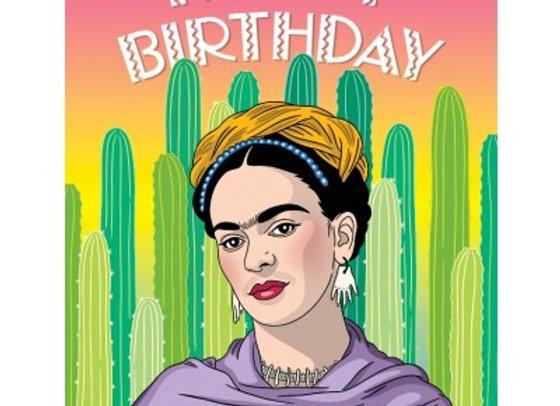 Artista Mexicana Cacti Happy Birthday Card by The Found